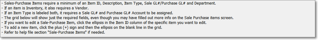 HelpFiles-GLSalePurchaseItemsInstructions