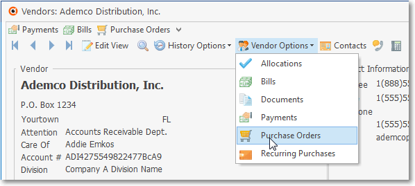 HelpFilesPurchaseOrderFormVendorOptionsMenuPurchaseOrdersOption
