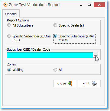 HelpFilesZoneTestVerificationReportSpecificSubscribersAllCSIDs